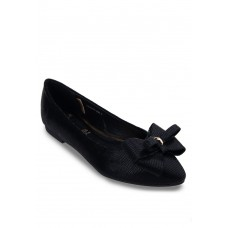Black Flats With Double Bows