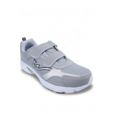 Light Gray PVC sporting shoes with magic tape