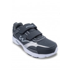 Dark Gray PVC sporting shoes with magic tape
